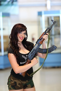 Anna Bella with AK-47 Phoenix Pin-Up Dolls
