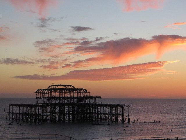 West Pier Brighton Sunset, Canon POWERSHOT SX270 HS
