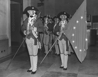 "Photograph of Honor Guard for ""The Creation of an American Army"" Exhibit"