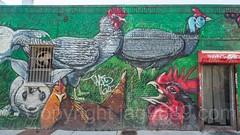 King Live Poultry Wall Mural, Bushwick, Brooklyn, New York City