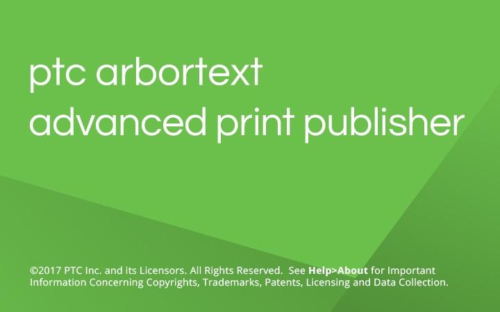 PTC Arbortext Advanced Print Publisher 11.1 M060