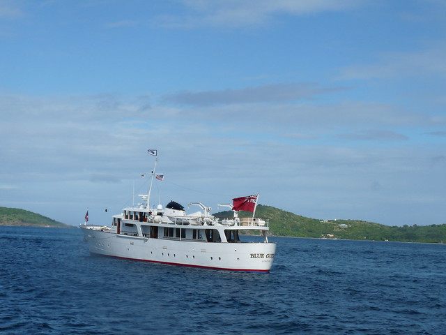 The Blue Guitar - Eric Clapton's yacht in the waters of St. John