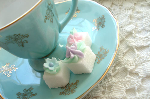Tea Cup and Sugar Cubes