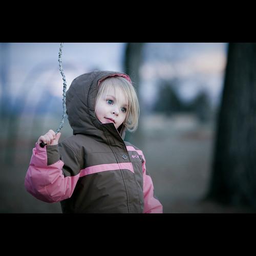 park winter portrait beach littlegirl