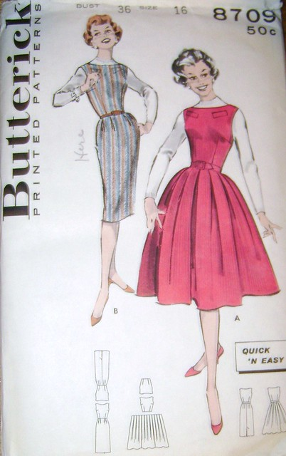 McCall's 3543 OOP Misses' Dress or Jumper Sewing Pattern, Size 16