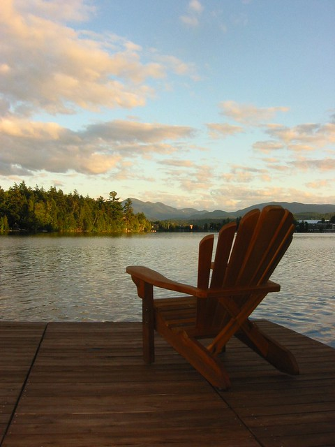 adirondack chair overlooking mirror lake lake placid flickr photo