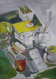 mesa del pintor