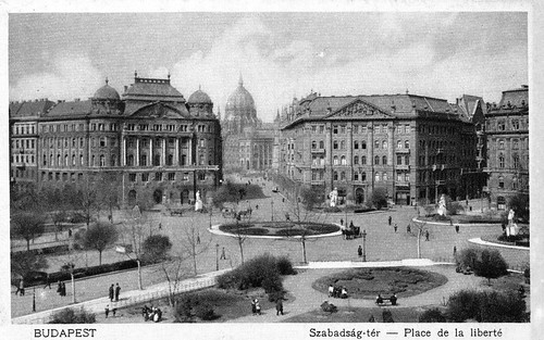 Old postcards of Budapest – Liberty Square