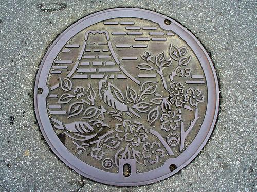 Fujiyoshida Yamanashi manhole cover2(山梨県富士吉田市のマンホール2)