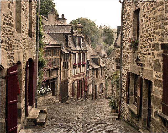 Old Street in Dinan (France)