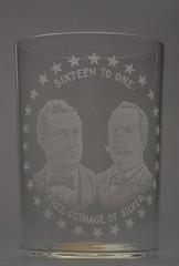 "Bryan-Sewall ""Sixteen To One"" Portrait Drinking Glass, ca. 1896"