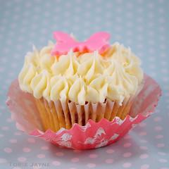Gluten free Strawberry rose cupcakes