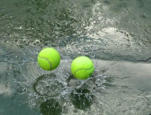 Tennis in the Rain