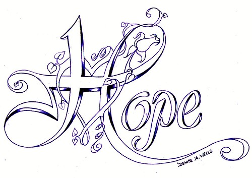 Hope Tattoo design by Denise A. Wells