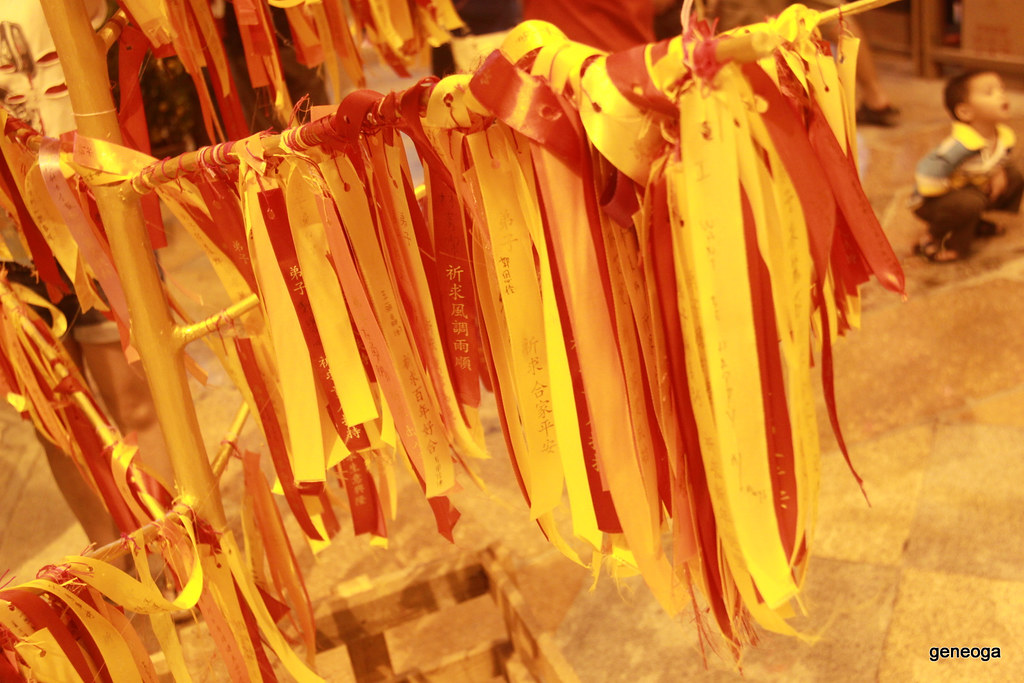 Red and Yellow ribbons for blessing