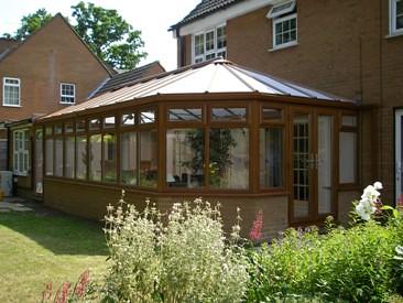 Woodgrain Conservatory