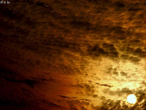 sunset red sky sun india black nature beautiful yellow maharashtra patch pune