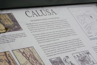 Erinnerungstafel an die Calusa-Indianer