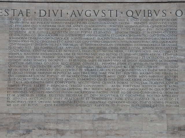 Flickriver photoset 39 res gestae divi augusti 39 by mrjennings - Res gestae divi augusti ...