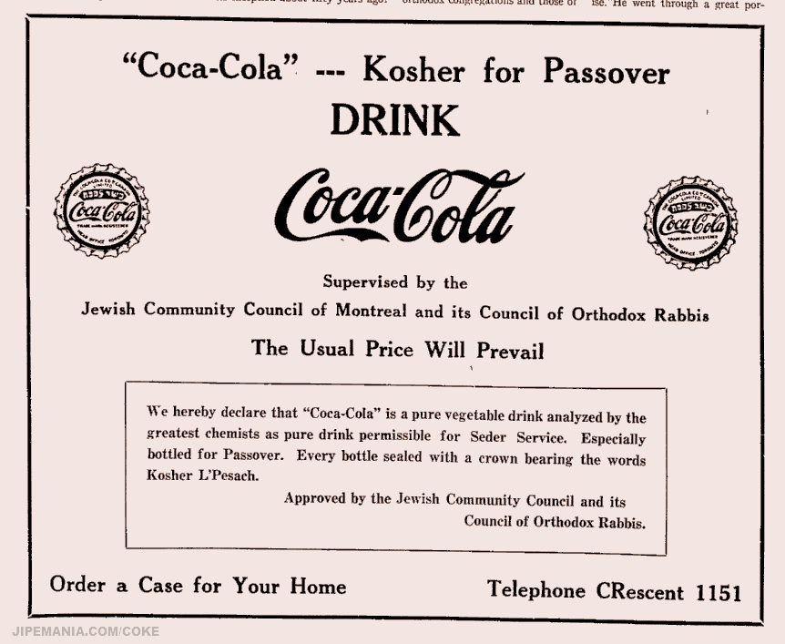 1936 Apr 03 Coca Cola Kosher Le Pessach Passover A Photo On Flickriver