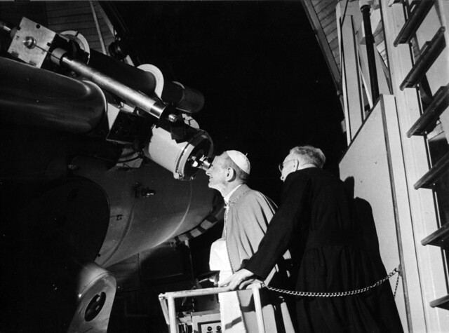Pope Paul VI Schmidt views the first moon landing