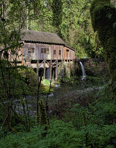 old green mill creek landscape washington site scenic historic cedar grist topazadjust