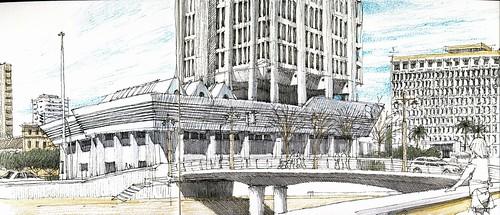 Urban sketchers spain el mundo dibujo a dibujo el for Oficinas de correos en malaga