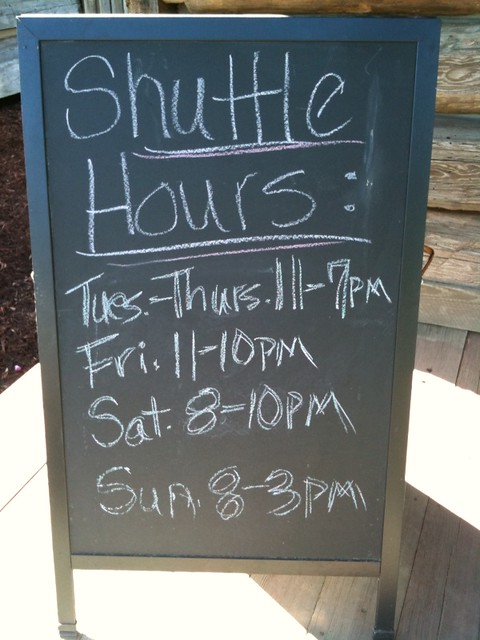 Photo:Shuttle hours from the lake to Russell Crossroads By LakeMartinVoice