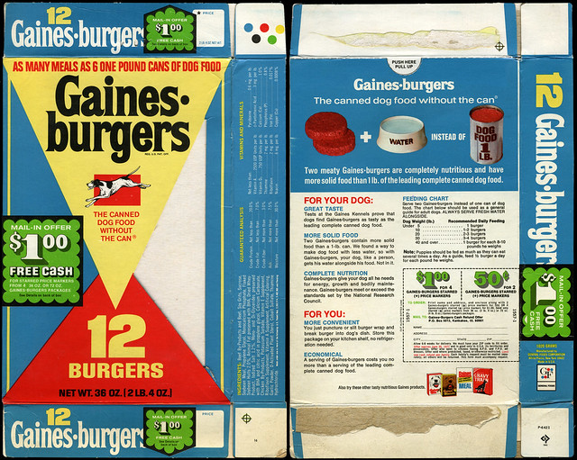Vintage Gaines Burgers Dog Food