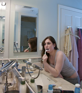 Brushing my teeth 2