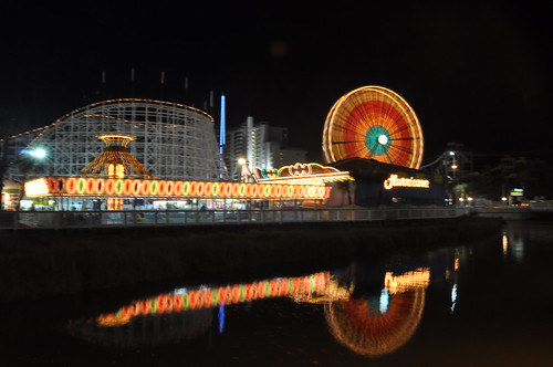 2010 Family Kingdom Amusement Park at Night Long Exposure