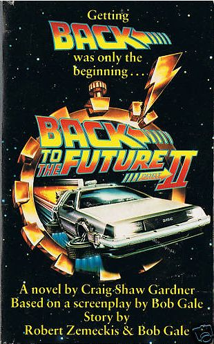 Back to the future part ii novelization alternate cover 3 1989