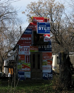 Election sign house !
