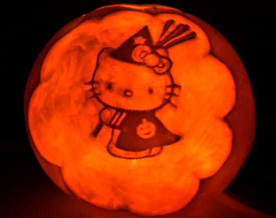 hello kitty witch pumpkin flickr photo sharing