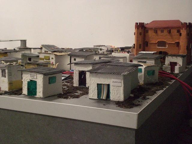 Maquetes de barraques del Campo La Bota (novembre 2010)