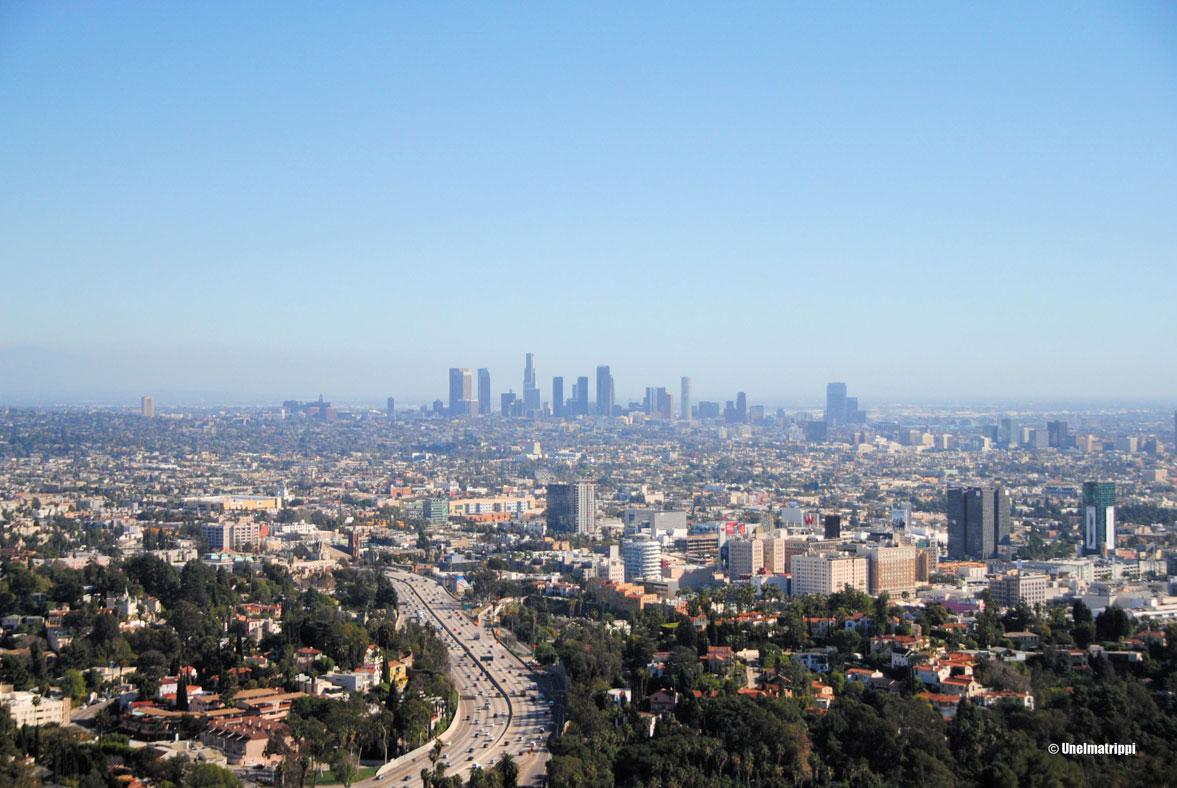 Näkymä Downtowniin, Los Angeles, Kalifornia, USA