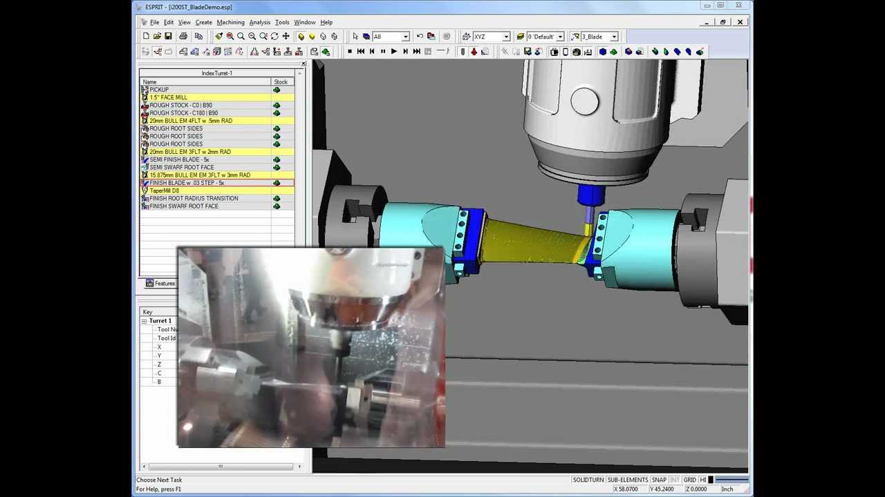 Multiaxis machining with ESPRIT-2015 R4