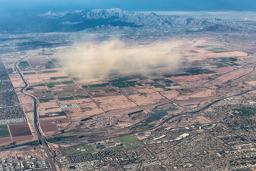 aerial chrisvallephotography duststorm landscape weather mesa arizona unitedstates us