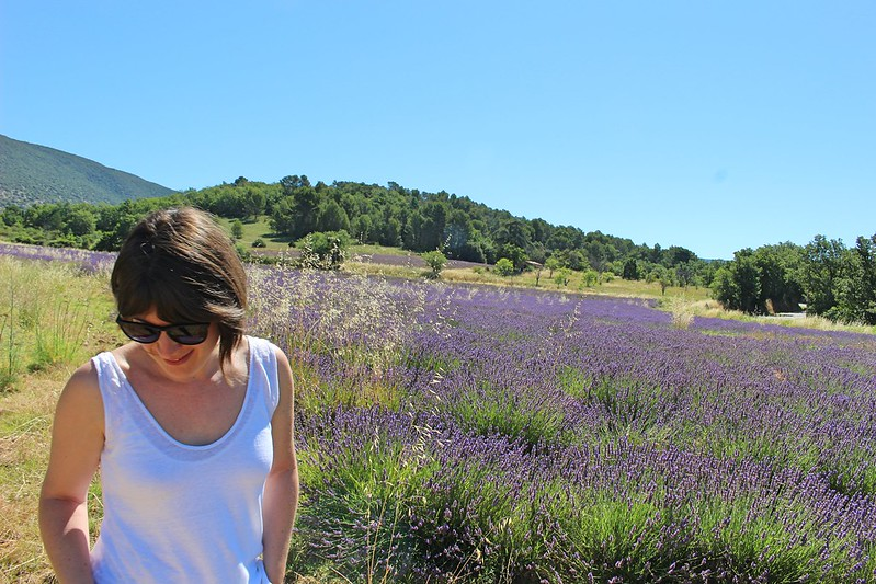 Marion in lavender fields