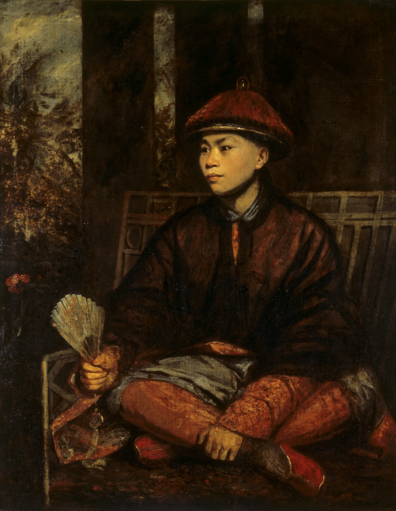 Sir Joshua Reynolds, Portrait of Huang Ya Dong, oil on canvas, 130 x 107 cm., c.1776-1813. Coll: National Trust