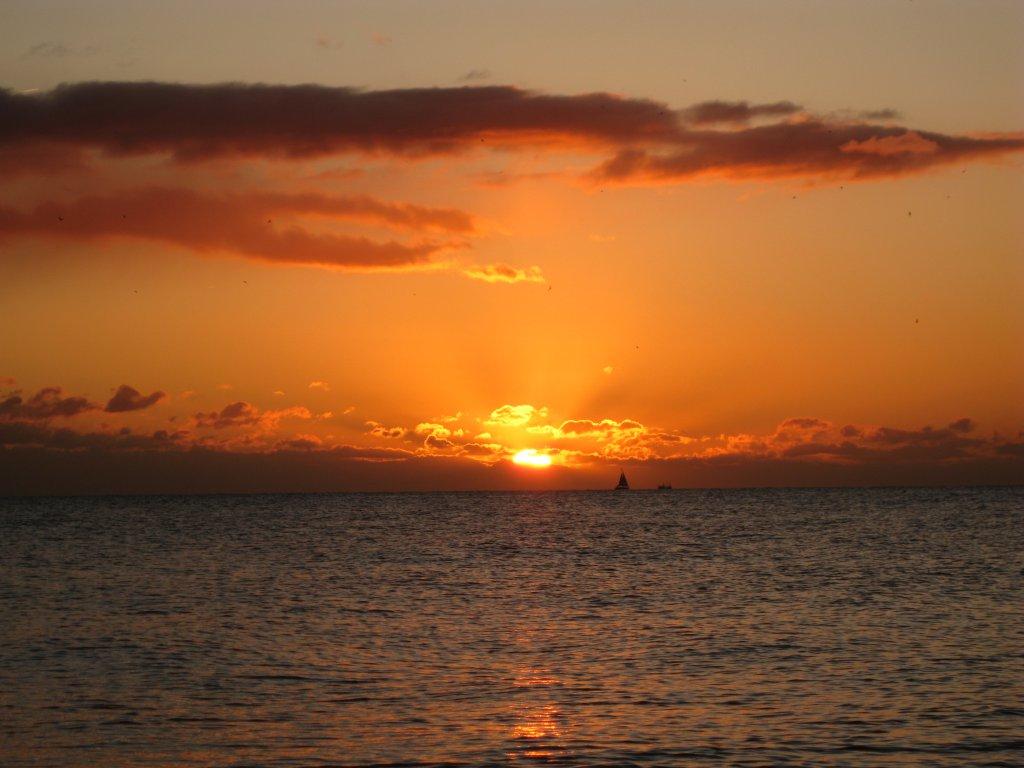 Sunset at Brighton Beach