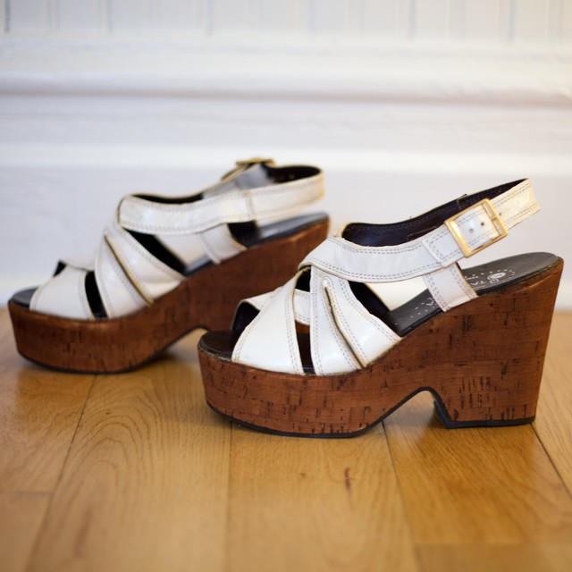 70s cork wedge platform sandals flickr photo