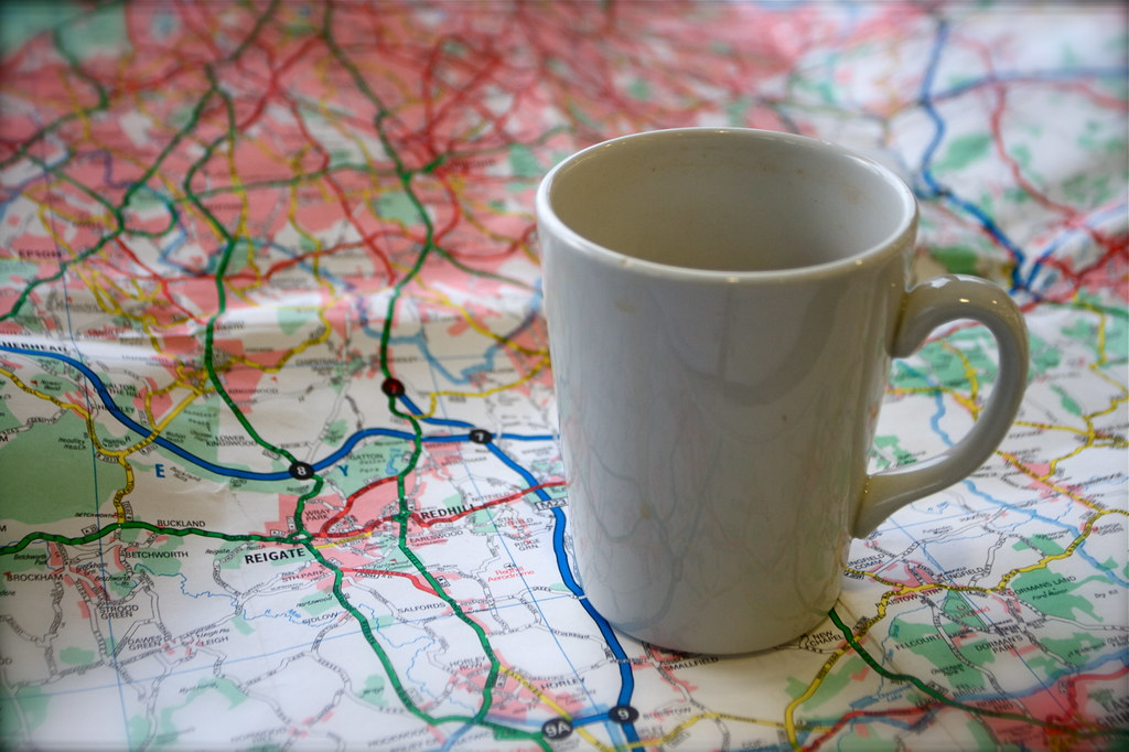Tea and Map on the M25