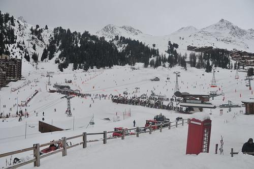 Powder snow in La Plagne