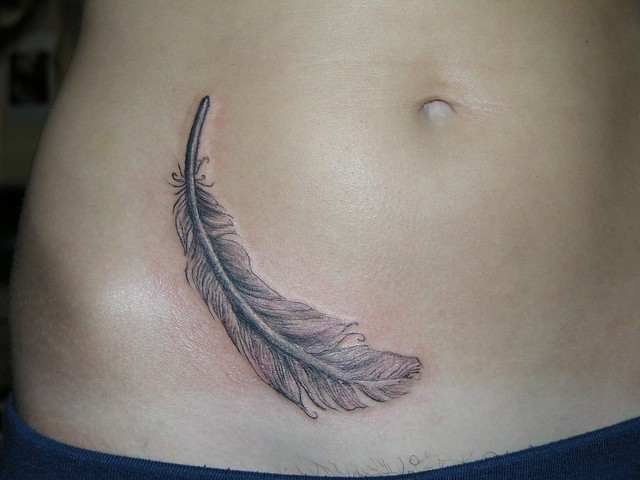 Feather on Belly Coverup