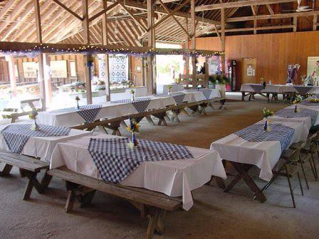 Picnic Themed Wedding Reception Similar Decorating Idea