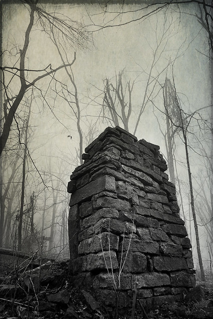 If this chimney and what's left of this old homestead could talk