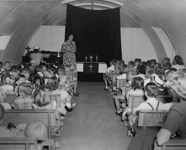 Nas Agana  Guam Sunday School In A Quonset Chapel 25 March