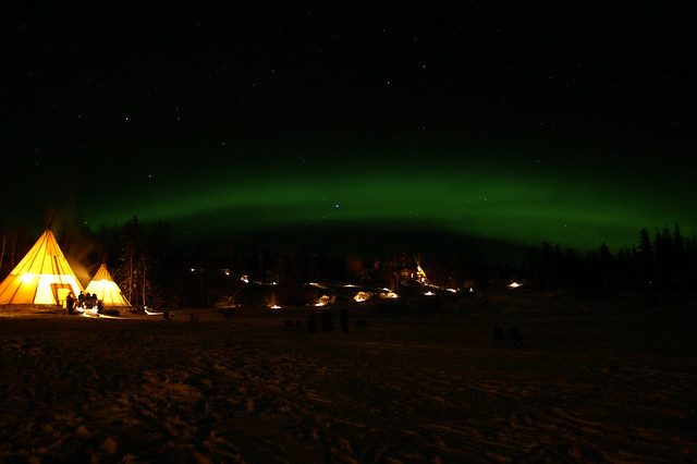 Northern Lights Yellowknife Northwest Territories Canada