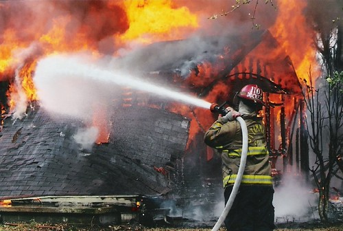 Pearl River Fire by Loco Steve, via Flickr